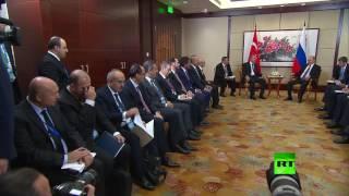 بوتين يمازح أردوغان بخصوص رئيس الاستخبارات التركية