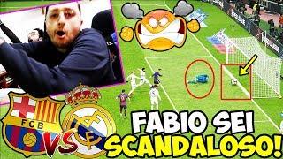 FABIO SEI SCANDALOSOOO!!! BARCELLONA-REAL MADRID [PES 2019]