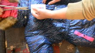 Обзор зимнего костюма для девочки. (фирма Малыш)