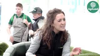 Claire Mc Cormack with Lely and 3 dairy farmers at 'Ploughing 2019'