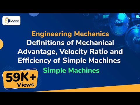 What is Definitions of Mechanical Advantage, Velocity Ratio, Input, Output & Efficiency Mechanics