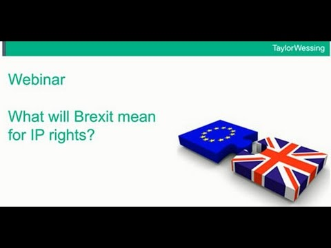 Brexit and IP rights
