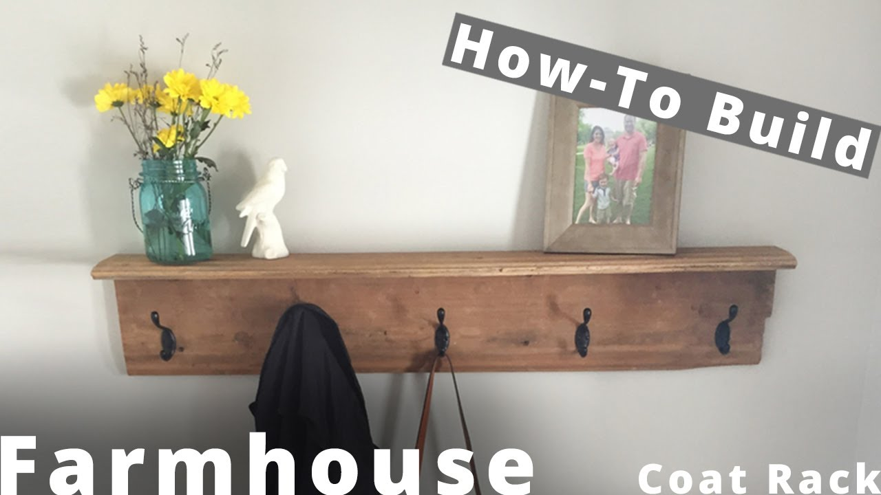 how to build a farmhouse coat rack diy project woodworking