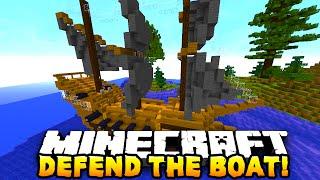 Minecraft DEFEND THE BOAT! (Minecraft PVP) - w/ PrestonPlayz & Kenny