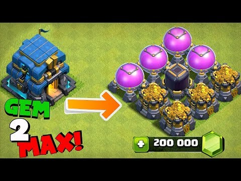 "GEM ENTIRE UPDATE TO MAX ""Clash Of Clans"" WHAT WILL IT COST!?!"