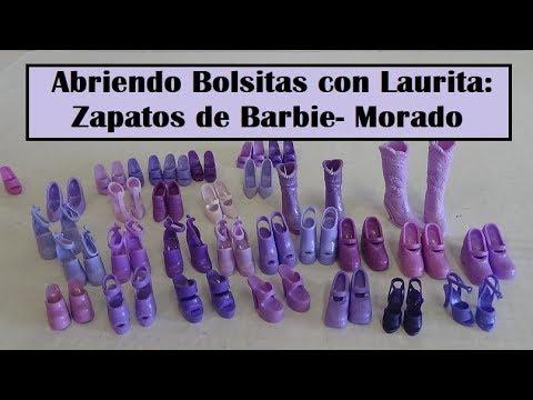 ecdb391c7 Abriendo Bolsitas con Laurita: Zapatos de Barbie - Morado - YouTube
