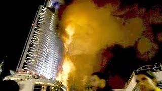 Fire at The Address, Downtown Dubai Mall  fire new video live telecast