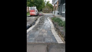 Cutting in place- Cutting a soldier course for Paver Patios