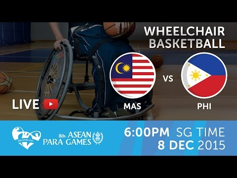 Wheelchair basketball Men's Philippines vs Malaysia (Day 5) | 8th ASEAN Para Games 2015
