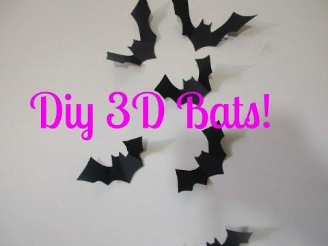 diy 3d halloween bats - Halloween Pictures Bats