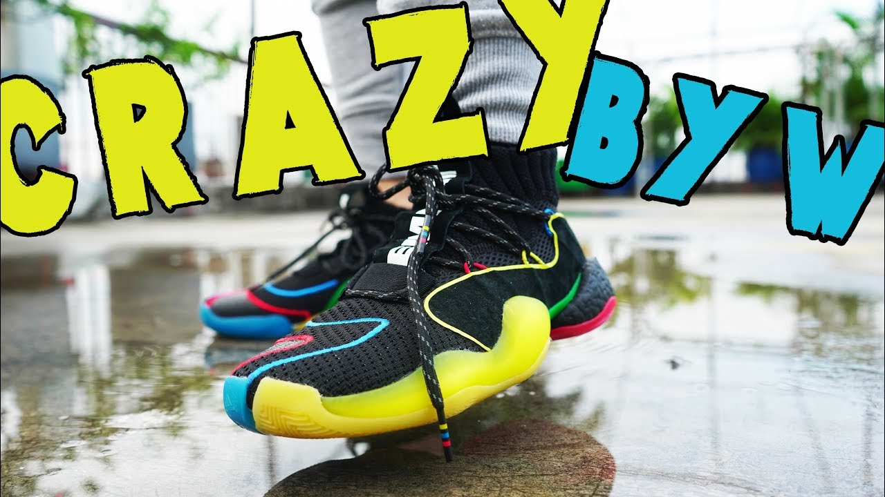 14a42604a4b23 Pharrell Williams CRAZY BYW LVL X REVIEW AND ON-FEET - YouTube