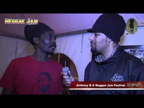 Anthony  B interview @ Reggae Jam 2012