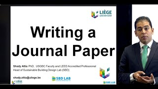 Writing a journal paper