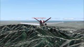 fs2004 Bonanza 830T flies Palmdale to Los Angeles CA