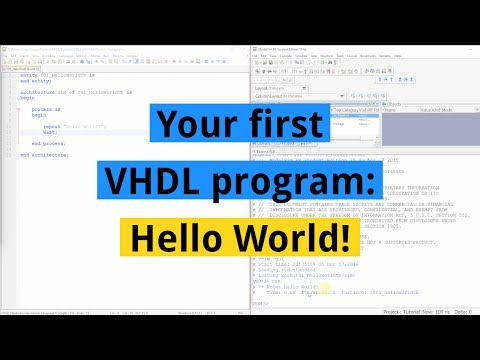 How to create your first VHDL program: Hello World!