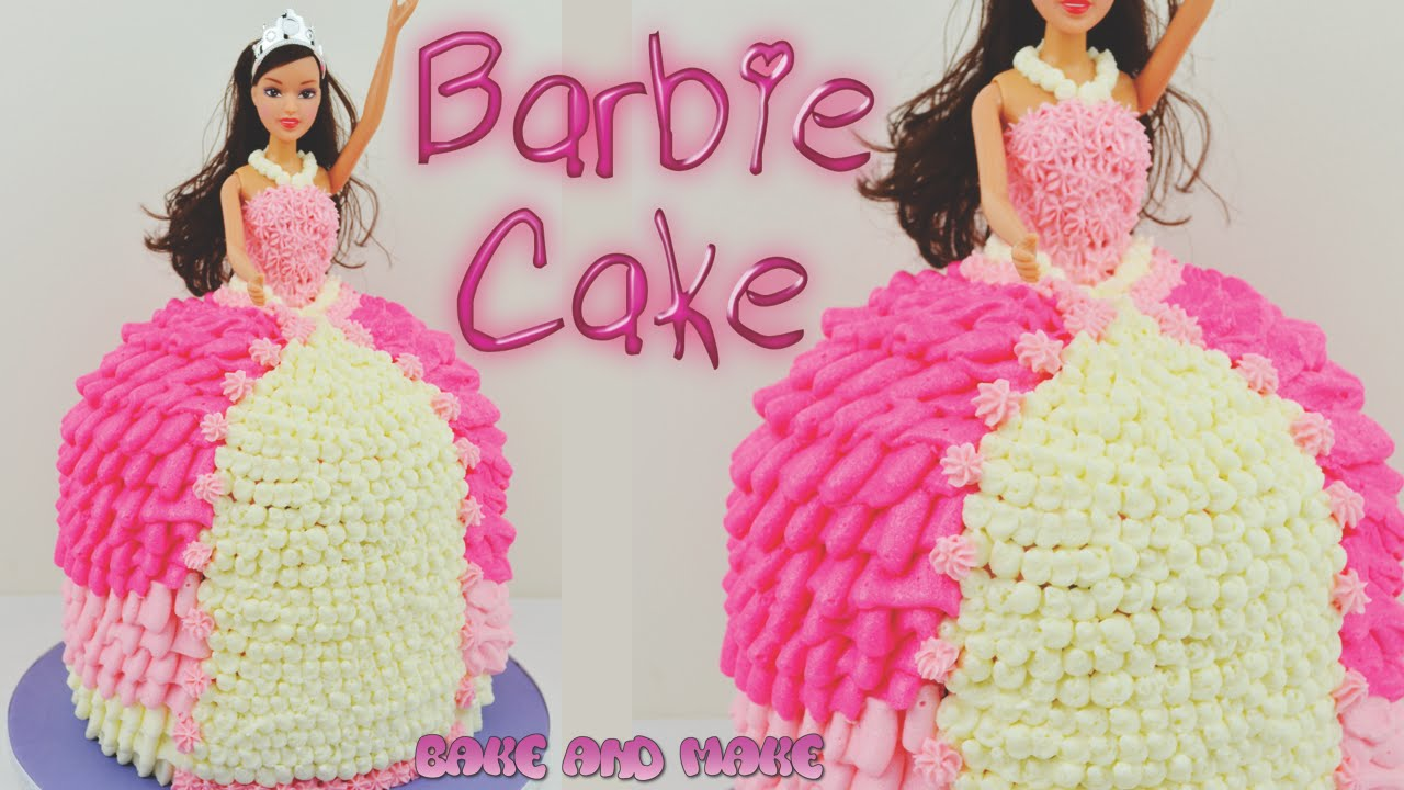 How to make a Barbie Doll Princess Cake Tutorial Bake and Make with