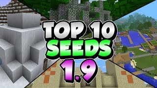 Repeat youtube video Top 10 Seeds in Minecraft 1.9 - TONS OF DIAMONDS, 6 VILLAGES (PART 1)