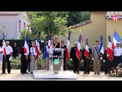 Inauguration Stele en mémoire du Major Jean Pierre VIGNAUX