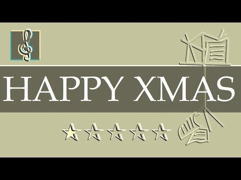 Video Sheet Music Eb - Happy Xmas - John Lennon - Christmas Song (Guitar chords)
