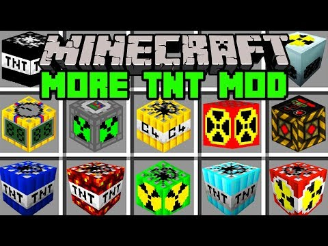 Minecraft MORE TNT MOD!   CRAFT 100 NEW TNT, DYNAMITE, & MORE!   Modded Mini-Game