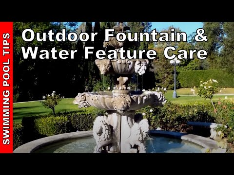 make your own fountain pool outdoor fountain and water feature care maintenance youtube