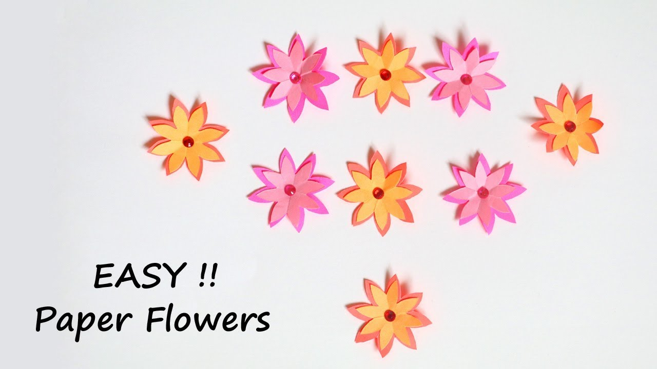 Flower Making With Paper Dailymotion Ukranochi