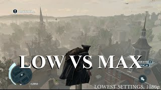 Assassin's Creed 3 - Low vs Max