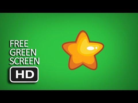 Free Green Screen - Star Animated