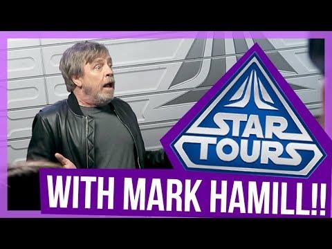 I RODE STAR TOURS W/ MARK HAMILL AT DISNEYLAND!!!