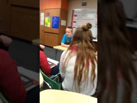 Lip sync in Bangor Middle School mi