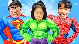 Boram becomes a superhero and saves her friends
