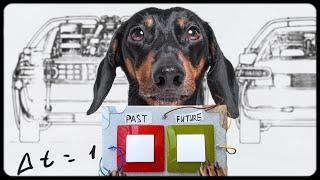 Dog vs. Time Machine! Funny dachshund video!