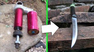 Membuat pisau fillet dari besi as shokbreaker motor
