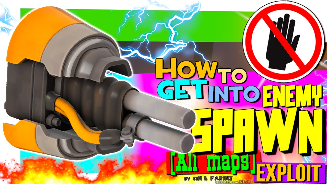 TF2: How to get into enemy Spawn (Short Circuit Exploit)