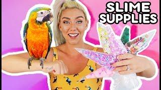 MY PARROT PICKS MY RANDOM SLIME INGREDIENTS !! Pets pick my slime #1 | NICOLE SKYES