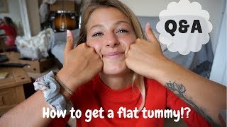 Q & A | How to get a flat tummy? ANOTHER PEACH PLAN?! Tattoos & More!