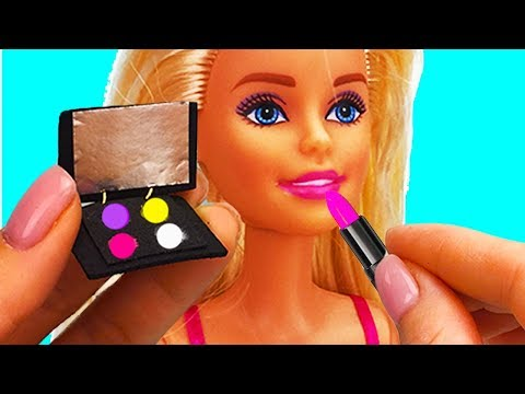 Miniature makeup cosmetics and accessories for Barbie doll