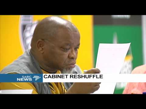 ANC not happy with reshuffle: Gwede