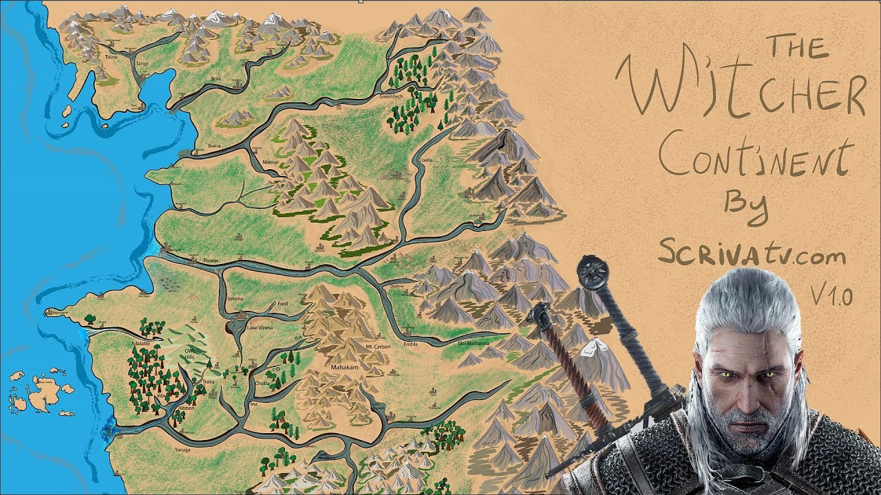 The Witcher Continent Drawing Timelapse/Map Development