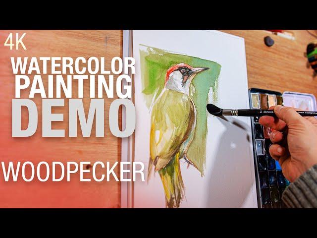 🖌️🎨 🐦 Comment peindre un pic vert à l'aquarelle