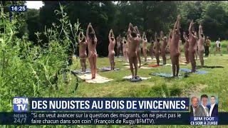À Paris, les naturistes profitent du beau temps au bois de Vincennes