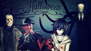 Freddy y Jason vs. Jeff y Slender // Especial Halloween Parte 2 - BHR ft. Zoiket y DarckStar