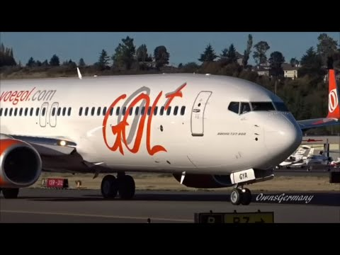 Gol Transportes Aéreos Boeing 737-800 Test Flight + Reject TakeOff @ KBFI Boeing Field