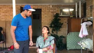 Head Massage | | Mr Sammy Naz | Nasir Kaur | Punjabi Funny Video | Husband Wife Kalol