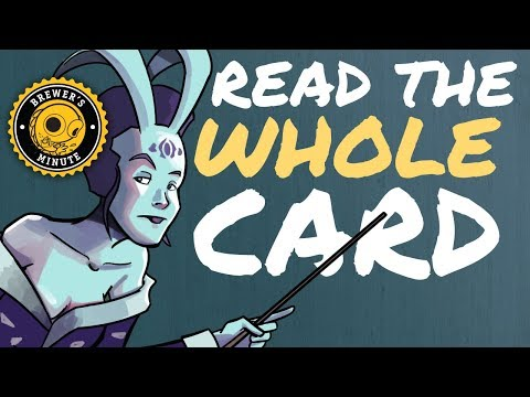 Brewer's Minute: Read the Whole Card