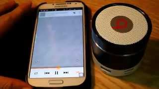 Mini Bluetooth V3.0 speaker with USB TF music and FM radio Colorful LED Lights
