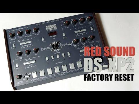 Red Sound DARKSTAR XP2 factory reset