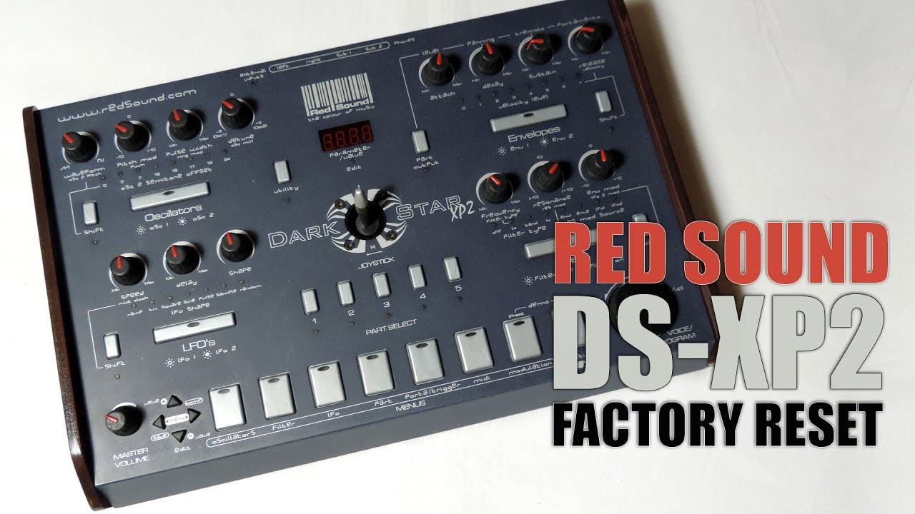 Mgk Tutorial's Red Sound DARKSTAR XP2 factory reset Youtube