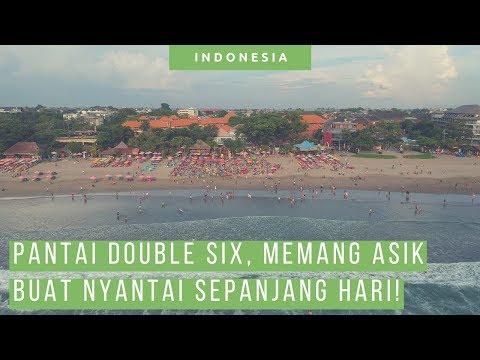 Enjoy Pantai Double Six Beach Bali [ Vlog Liburan Wisata Bali ]