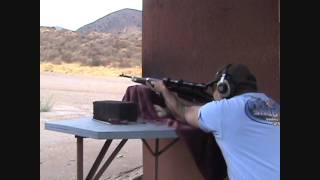 6.5mm Mannlicher-Carcano rifle, 6 shots in 5.1 seconds.